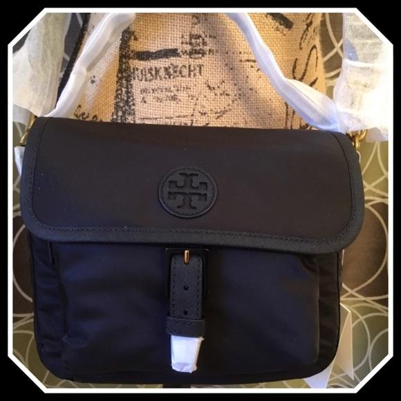 7f7208fcb6be Tory Burch Scout Nylon Crossbody Bag Black NWT